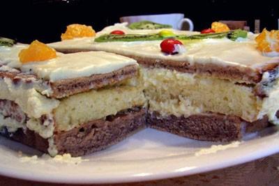 Блюда из бисквитного теста коллекция