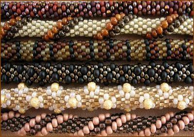 Вязаные крючком жгуты из бисера - Вязаные жгуты делаются в два этапа: Основы вязания бисерных жгутов крючком.