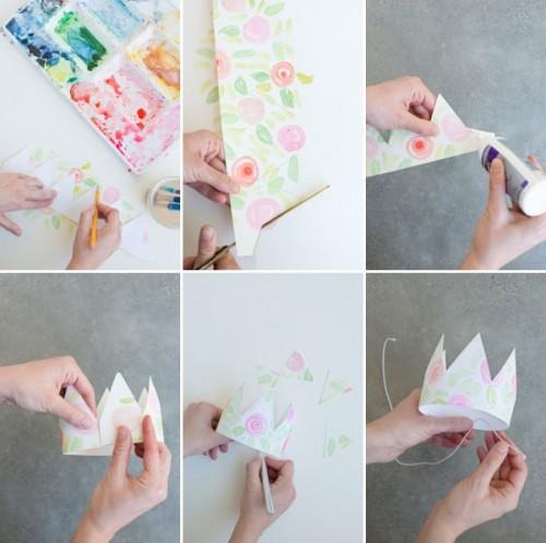 Корона из бумаги своими руками поэтапно
